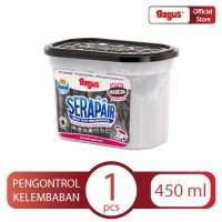 Bagus Serapair Square Box 450 ml Charcoal