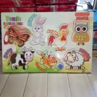 Puzzle / Puzle / Pazel kayu MDF Binatang belajar mengasah otak anak