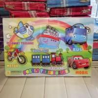 Puzzle / Puzle / Pazel kayu MDF Transportasi, Kendaraan
