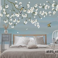 Wallpaper Dinding Custom Chinoiserie - Wallpaper Custom Chinoiserie 3D