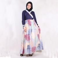 Gamis Maxi Kimono (33) Daun Baju Muslim Wanita Model Kekinian Terbaru