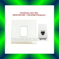 Saklar Jack Modul Telepon Putih WEJ2164 & WESJ78019 Panasonic