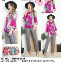 Harga blouse batik modern atasan etnik cewek cantik baju wanita kantor | antitipu.com