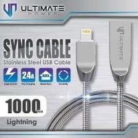 Ultimate Power Kabel Data Lightning Fast Charging Stainless Steel 100