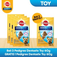 [Bundling 3 Pack] Pedigree Dentastix Toy Snack Anjing Free 1 Pack