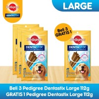 [Bundling 3 Pack] Pedigree Dentastix Large Snack Anjing Free 1 Pack