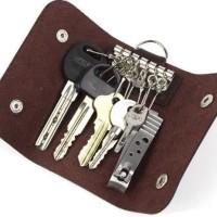 Dompet Kunci Mobil STNK Gantungan Kulit 6 in 1 warna cars wallet SIM A