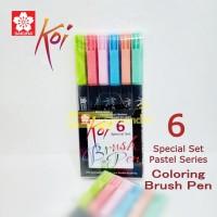 Sakura Koi Coloring Brush Pen Special Set 6 Warna Pastel