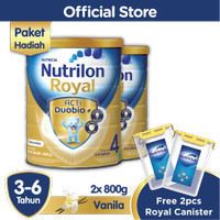 Paket Isi 2 - Nutrilon Royal 4 Vanilla 800gr FREE Royal Canister