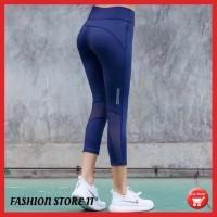 celana legging capri 3/4 sport gym fitness senam olahraga wanita FS40