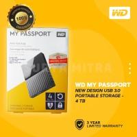 WD My Passport New Design 4TB USB 3.0 - HD / HDD / Harddisk External