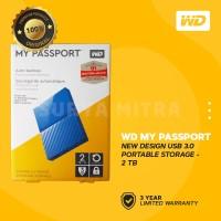 WD My Passport New Design 2TB USB 3.0 - HD / HDD / Harddisk External