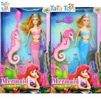 Mainan Boneka Barbie Putri Duyung - Mermaid (Biru & Ungu)