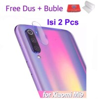 Xiaomi Mi 9 Mi9 2 Pcs Soft Tempered Glass Anti Gores Camera Kamera Ori