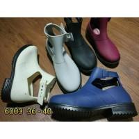 Jelly shoes bara bara luofu sepatu wanita karet boot import 6003