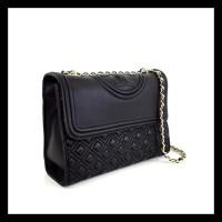 0ab7f7624 Tas Branded Tory Burch Fleming Convertible Shoulder Bag - Black -