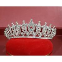 Mahkota pengantin tinggi 4cm diameter 14cm