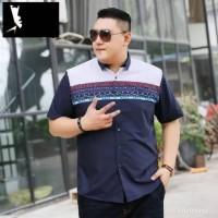 kemeja big size jumbo untuk badan gemuk XXL baju koko pria murah