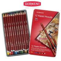 AJ03 Derwent Pastel Pencil 12 Derwent Pastel Pencil Tin 12 Pensil