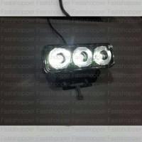 LAMPU TEMBAK SOROT LED CREE 3 MATA 6W PUTIH TERANG - CR478