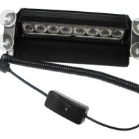 LAMPU LED STROBO LED FLASH LIGHT KACA DASHBOARD TERANG BIRU MERAH SD01