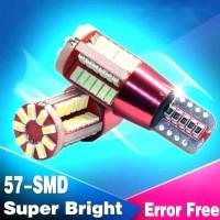 LAMPU LED T10 57 TITIK SMD4014 SUPERCHIP HARGA 1 PCS LT57T BIRU
