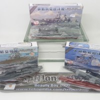 Model kit kapal perang modern WWII 8 macam easy build skala variabel