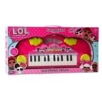 ORGAN PIANO MAINAN ANAK LOL SURPRISE PINK KADO MUSIK ANAK