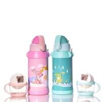 Botol Air Minum Termos Anak 450 ML (Pink / Hijau)