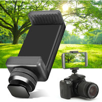Flash Hot Shoe Screw Adapter Tripod Mount Phone Clip Holder For DSLR