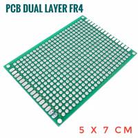 PCB lubang Double Layer Trough Hole 5x7 cm FR4 High Quality 5*7