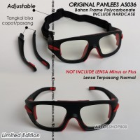 Google Panlees AS036 ORIGINAL Frame Kacamata Badminton Panless AS-036