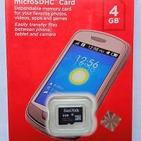 SanDisk Mocro SDHC 4GB Original Grs resmi