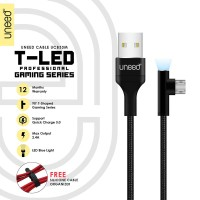 UNEED T-LED Kabel Data Micro USB Fast Charging Max 2.4A - UCB33M