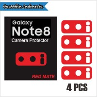 Original Samsung Note 8 Skin Cover Red Mate Camera Protector 4 Pcs |