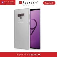 ASENARU Samsung Galaxy Note 9 Super Slim Signature Case Glacier White