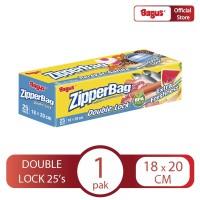 Bagus Zipperbag 25's - 18 cm x 20 cm