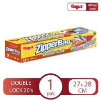 Bagus Zipperbag 20's - 27 cm x 28 cm