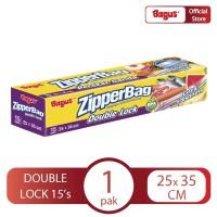 Bagus Zipperbag 15's - 25 cm x 35 cm
