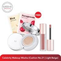 Exclusive Bundling Celebrity Makeup Missha (Cushion No.21 Light Beige)