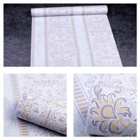 Harga wallpaper sticker dinding motif batik salur putih kream | antitipu.com