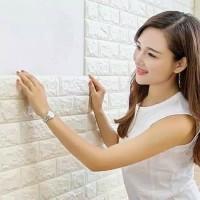 Wallpaper 3D Foam Batu Bata Modern 70X77 Wall Sticker Interior Rumah O