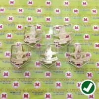 Lencana Pin Bros Merpati Putih Ful Logam - Pin Custom Desain