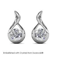 Wavvy Earrings - Anting Crystal Swarovski® by Her Jewellery