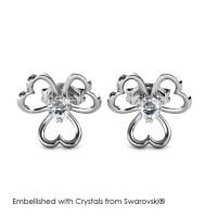 Tri Love Earrings - Anting Crystal Swarovski® by Her Jewellery
