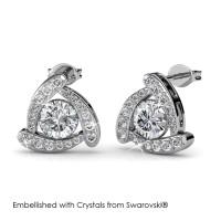 Tri Galaxy Earrings - Anting Crystal Swarovski® by Her Jewellery