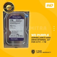 "WD Caviar Purple 1TB - HDD Hardisk Internal 3.5"" for CCTV Surveillance"