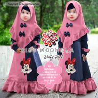 Moonela Kid/Gamis Wafel Import/Gamis Anak/Baju Muslim Anak Perempuan
