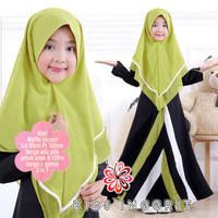 Inggrit Kid/Gamis Wafel Import/Gamis Anak/Baju Muslim Anak Perempuan