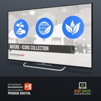 Template PowerPoint NATURE - ICONS COLLECTION | PresentationLoad